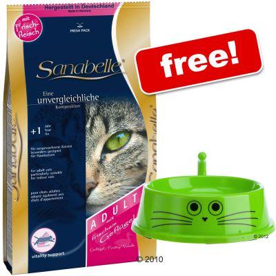 10 kg Sanabelle + zooplus Cat Bowl Free! - 10 kg Dental