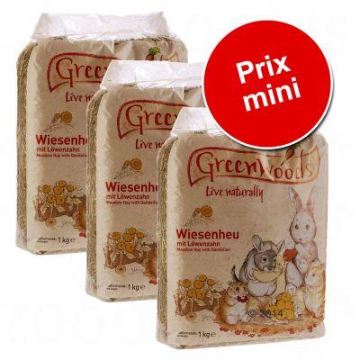Greenwoods Foin de prairie pour rongeur et lapin 3kg - carotte 3 kg