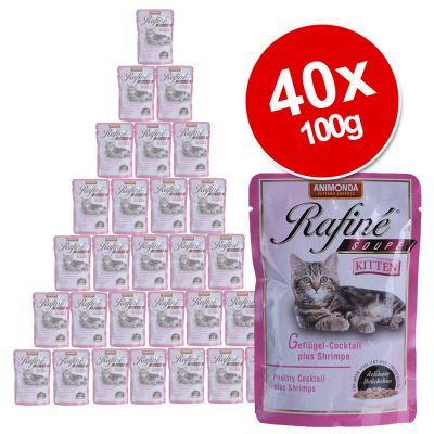 Animonda Rafiné Soupé Kitten Saver Pack 40 x 100g - Turkey, Heart & Carrots