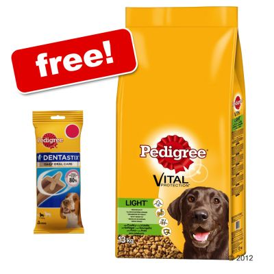 Large Bags Pedigree Dry + Pedigree Dentastix Small Free!* - Active Chicken (15kg)