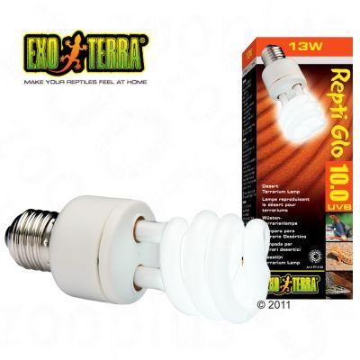 Ampoule lumière du désert Repti Glo 10.0 Hagen Exo Terra- 13 Watt, dimensions: L 15,4 cm x l 4,8 cm x P 4,8 cm