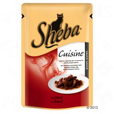Zum Angebot - Katze / Katzenfutter nass / Sheba Pouch 6 x 85 g - Saftige Filets mit Huhn in So