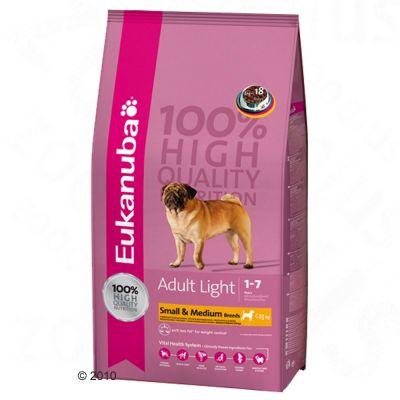 Eukanuba Adult Small & Medium Breeds Light - Economy pack 2 x 15 kg
