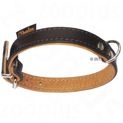 Heim Leather Dog Collar - Brown/Cognac - Size 50