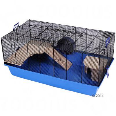 Cage Skyline Barney pour hamster et souris - bleu : L 100 x l 54 x H 45 cm