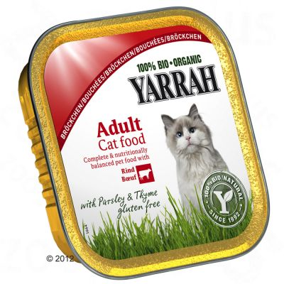 Yarrah Organic Chunks in Gravy 6 x 100g - Chicken with Beef