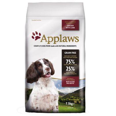 Applaws Adult Small & Medium Breed, kurczak z jagnięciną - - 2 x 7,5 kg