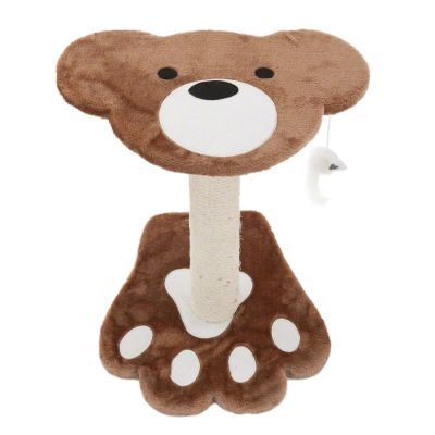 Teddy Bear Cat Tree - brown