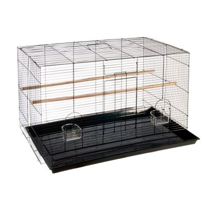 Bird Cage Finca pequeno - black: 76 x 45.5 x 46 cm (L x W x H)