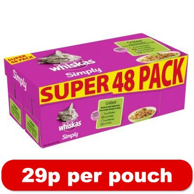 Whiskas Pouches SuperPack 48 x 85g - Price Cut - Bite 'n Chew Mixed