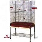 Marchioro Bird Cage Delfi 102 - Tray Burgundy Red:  102 x  54 x 177 cm (L x W x H) incl. stand