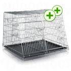 Trixie Double Transport Cage - 93 x 79 x 68 cm (L x W x H) / Roof Depth 48cm