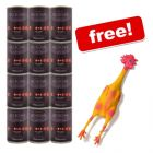 6 x 800 g Herrmanns Organic Menu + Rubber Toy Chicken Free! - Beef with Buckwheat & Fruit (gluten-free)