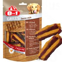 8in1 Delights Grills Bacon pour chien - 3 x 80 g