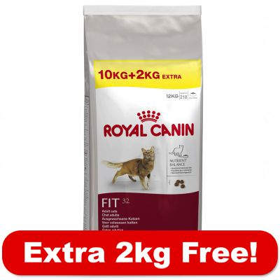 10kg Royal Canin Dry Cat Food + 2kg Free! - Fit (12kg)