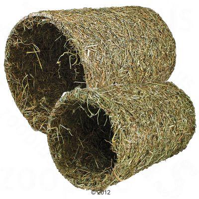 JR Farm Tunnel de foin pour rongeur et lapin - L 25 x l 13,5 cm