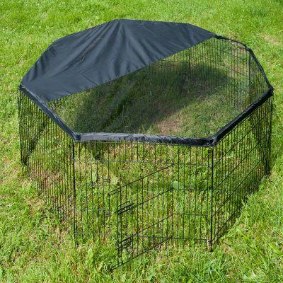 Enclos Freerun, octogonal pour rongeur et lapin - enclos avec filet de protection : H 80 cm x l 74 cm
