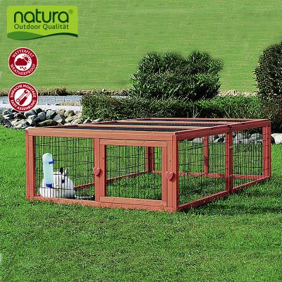 Enclos Natura en bois pour rongeur et lapin - enclos uniquement : L 174 x l 109 x H 48 cm