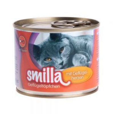 Smilla Poultry Pots 6 x 200 g - Tender Poultry with Poultry Hearts