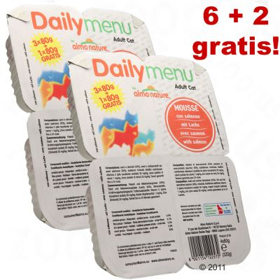 8 x 80 g Almo Nature Poker Cat Mousse, 6 + 2 gratis! - mit Lamm