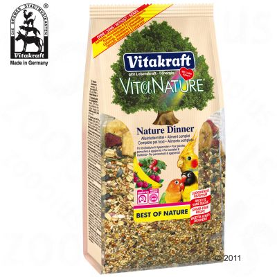 Vita Nature Dinner Large Parakeets and Love Birds - 3 x 750 g