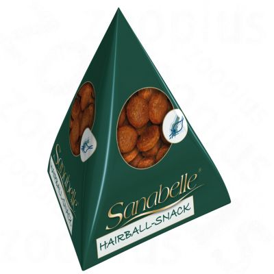 Sanabelle Hairball Snack in Tetrahedron Packaging - 25 x 20 g