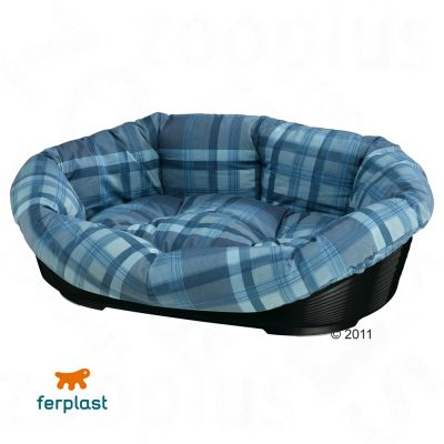 Sofa Dog Basket with Cover - Blue - Size 10:  93 x  68 x  28 cm (L x W x H)
