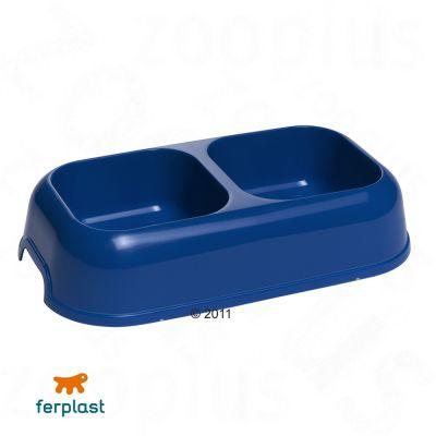 Gamelle double en plastique Party 1,2 L- bleu
