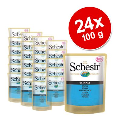 Schesir Pouch Savings Pack 24 x 100 g - Adult Tuna