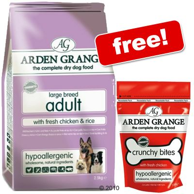 15 kg Arden Grange Large + 250g Crunchy Bites Chicken Free! - Puppy/Junior Large Breed Chicken & Rice (15 kg)