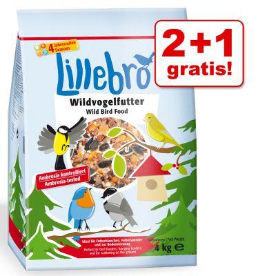 2 + 1 gratis! Lillebro karma dla dzikich ptaków 3 x 4 kg - - 3 x 4 kg
