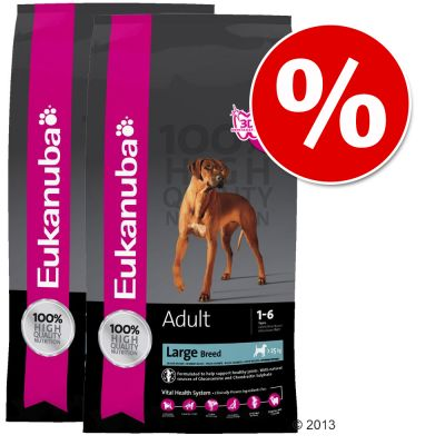 Eukanuba Dog Food Economy Packs - Adult Small/Medium Breed Lamb & Rice: 2 x 12kg