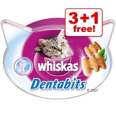 Whiskas Dentabits 3 + 1 Free! - 4 x 50g
