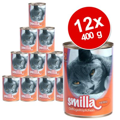 Smilla Poultry Pots Saver Pack 12 x 400g - Tender Poultry with Poultry Hearts