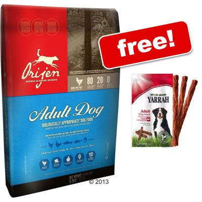 13kg Orijen Dog Food + 2 x 33g Yarrah Organic Sticks Free!* - Senior (13kg)