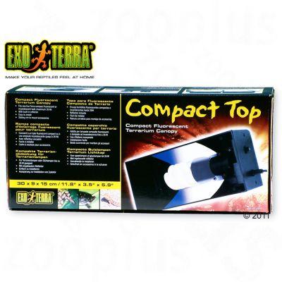 Rampe d´éclairage Hagen Exo Terra Compact Top 30- pour 1 ampoule de terrarium ou fluorescente jusqu´à 26 Watt