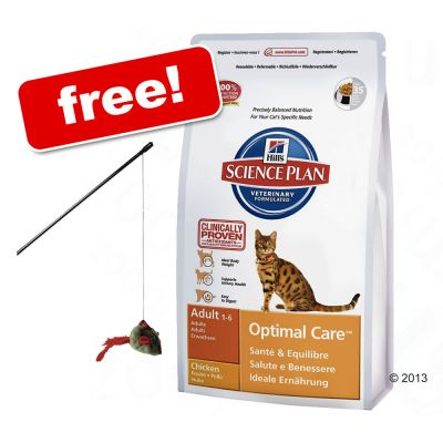 Large Bags Hill's Science Plan + Sound-Mouse Toy Free!* - Adult Cat Optimal Care - Tuna (10kg)