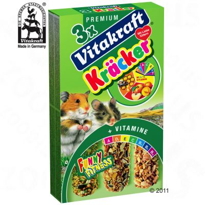 Vitakraft Hamster-Cracker Multipack - 3 x 3 Sticks Combi (Multi-Vitamin, Honey, Fruit)