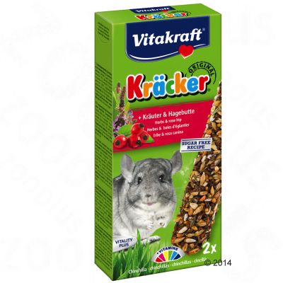 Lot Vitakraft Crackers pour chinchilla - 5 x 2 friandises (herbes)
