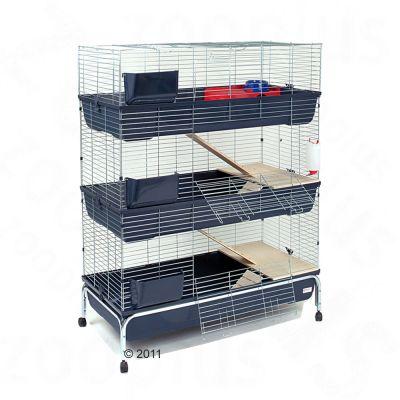 Essegi Small Pet Cage Baffy 120 3-storied - Base Dark Blue