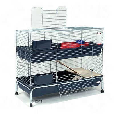 Essegi Small Pet Cage Baffy  2-storied - Base Dark Blue: 120 x 54 x 102cm (L x W x H)