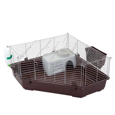 Corner cage Single Corner for small pets - 112 x 80 x 40 cm (L x W x H)