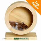 Wonderland Wooden Exercise Wheel -  15 cm - Pet Supplies