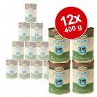 12 x 400 g Lukullus Gustico - Value Pack - Beef Sensitive with Parsnip, Spirulina & Evening Primrose