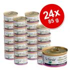 Schesir in Jelly Savings Pack 24 x 85 g - Tuna with Beef Fillet