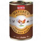 Rinti Natures Balance 6 x 400 g - Venison, Wholemeal Pasta, Pomegranate & Garden Herbs