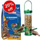 Plastic Bird Feeder + 4 kg Wild Bird Food - 20% Off! - Plastic Bird Feeder + 4 kg Wild Bird Food