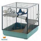 Ferplast Ferret Cage Furet XL - Gray Bars, Gray Basin
