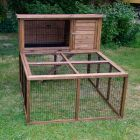 Outback Rabbit Hutch Forest with Run - 122 x 152 x 116 cm (L  x  W  x  H) (2 parcels)