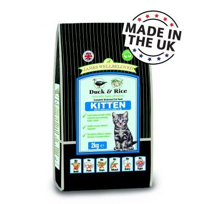 James Wellbeloved Kitten Duck & Rice - 2 kg